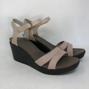 Crocs Tan Open Toe Wedge Sandals 11